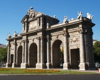 Alcala gate in Madrid Stock Photography