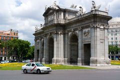 Alcala Gate in Madrid. The Alcala Gate, one of Madrid's  most famous landmarks Stock Photos