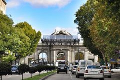 Alcala gate in Madrid Stock Photo