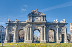 The Alcala Gate in Madrid, Spain. Stock Image