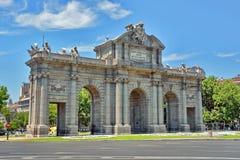 Alcala Gate in Madrid, Spain Stock Image