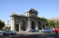 Alcala Gate in Madrid Royalty Free Stock Photography