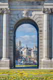 The Alcala Gate in Madrid, Spain. Stock Photography