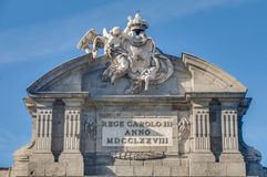 The Alcala Gate in Madrid, Spain. Royalty Free Stock Photo