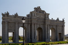 Alcala Gate Park in Europe. Madrid Stock Images
