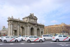 Alcala Madrid, Spanien Royaltyfria Foton