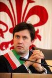 Alcalde de Dario Nardella de Florencia, expresiones Foto de archivo