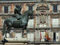Alcalde de la plaza de Madrid Fotos de archivo libres de regalías