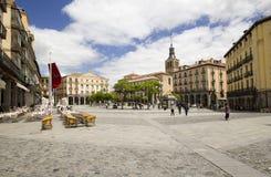 Alcalde de la plaza de Segovia, España Imagenes de archivo