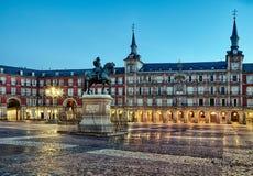 Alcalde de la plaza en Madrid Fotografía de archivo