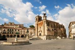 Alcalde de la plaza en Trujillo Imagen de archivo libre de regalías