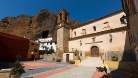 Alcalde de la plaza - plaza principal de Los Fayos Imagenes de archivo