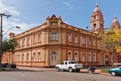 Alcalde House y catedral de Santo Ángel el Brasil Fotografía de archivo libre de regalías
