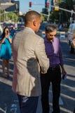 Alcalde Kevin Johnson Vivek Ranadive Fotografía de archivo libre de regalías