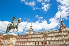 Alcalde Madrid de la plaza Fotos de archivo