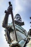Alcalde Madrid Spain de la plaza de la estatua del Equestrian de rey Philip III Foto de archivo libre de regalías