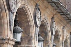Alcalde monumental de la plaza de Salamanca, ³ n de Castilla y Leà foto de archivo libre de regalías
