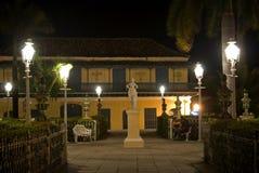 Alcalde por noche, Trinidad, Cuba de la plaza Fotos de archivo