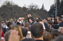 Alcalde real de Chisinau, Dorin Chirtoaca imagenes de archivo