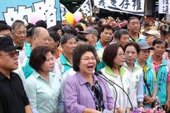 Alcalde Speaks de Gaoxiong en la abertura de un nuevo camino Fotos de archivo libres de regalías