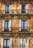 Alcalde Walls Cityscape Madrid España de la plaza Imagen de archivo libre de regalías