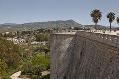 Alcamo镇墙壁 库存照片