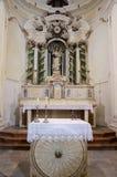 Alcamo - kyrka av Jesus, Sicilien arkivbilder