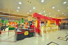 Alcampo大型超级市场,西班牙 免版税库存图片
