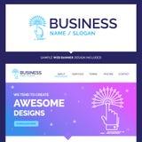 Alcance bonito da marca do conceito do negócio, toque, destino ilustração royalty free