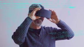Alcance de la realidad virtual almacen de metraje de vídeo