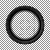 Alcance del rifle de francotirador Opinión militar del arma Plantilla del vidrio óptico Apunte el concepto libre illustration