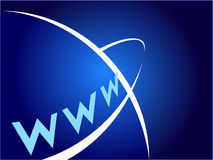 Alcance global pelo World Wide Web Fotos de Stock