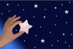 Alcance para as estrelas Foto de Stock Royalty Free