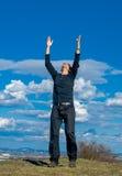 Alcance para fora para o céu Foto de Stock