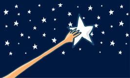 Alcance para las estrellas o el éxito - horizontal Fotografía de archivo libre de regalías