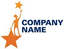 Alcance para o logotipo das estrelas Imagens de Stock Royalty Free