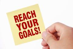 Alcance seus objetivos Imagens de Stock Royalty Free