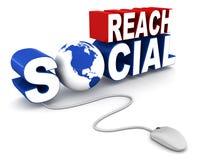 Alcance social ilustração stock