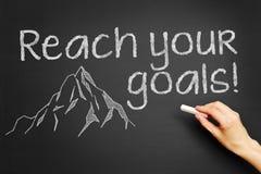 ¡Alcance sus metas! Imágenes de archivo libres de regalías