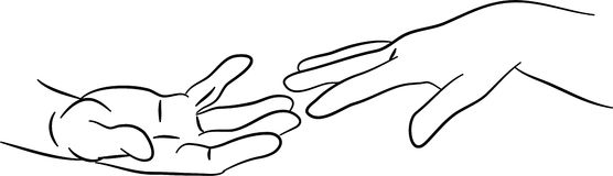 Alcangando as mãos