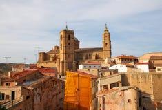 Alcaniz. View on the old center of Alcaniz, Aragon, Spain royalty free stock photo