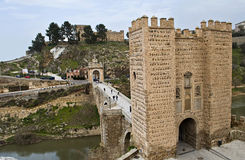 Alcantara bridge Royalty Free Stock Photography