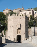 Alcantara bridge entrance. Toledo.Spain Stock Photography