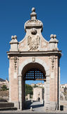 Alcantara bridge entrance. Toledo.Spain Stock Photos