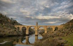 Alcantara bridge. HDR Royalty Free Stock Images