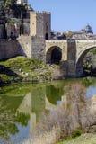 Alcantara Bridge, over the river Tage, Toledo Stock Photography