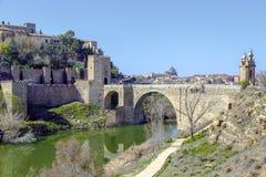Alcantara Bridge, over the river Tage, Toledo Royalty Free Stock Photos