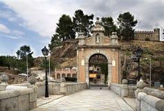 Alcantara Bridge in Toledo Stock Images