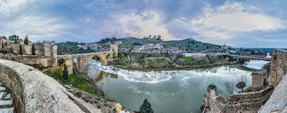 Alcantara bridge at Toledo, Spain Royalty Free Stock Photo