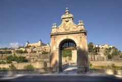 Alcantara Bridge Toledo, Spain Royalty Free Stock Photography